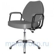 Кресло парикмахерское Соло хром